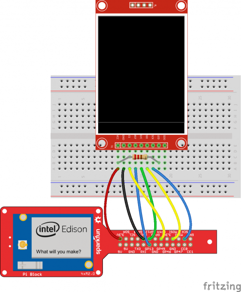 Connect the LCD to the Edison