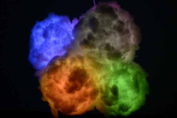 Rainbow colored LED Clouds
