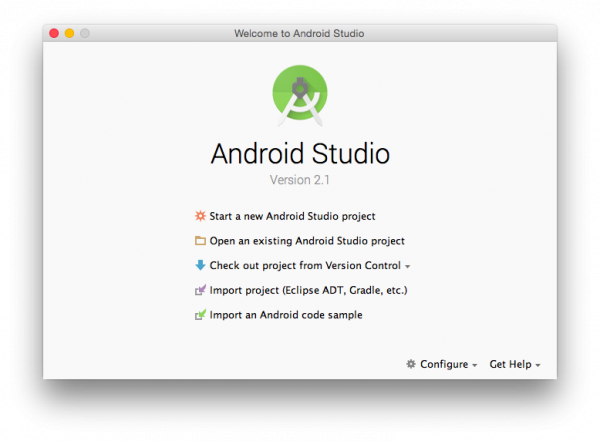 how to open an existing android project