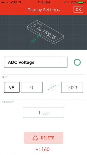 Voltage value setting