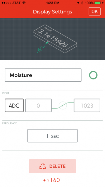Value widget on ADC