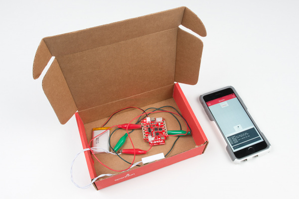 Using the SparkFun Box to test a door switch