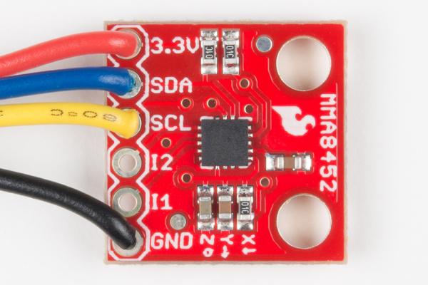 MMA8452Q accelerometer soldered