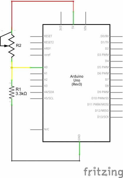 Fritzing schematic