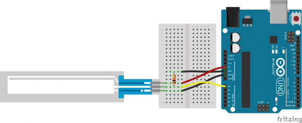 Fritzing example circuit
