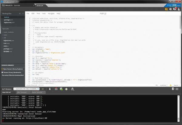 XDK  running Sparcade code