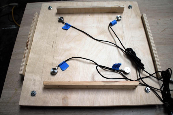 push-button load cells in a custom built scale enclosure