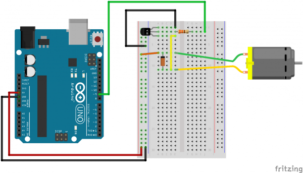 How to drive dc motor using L293D with arduino