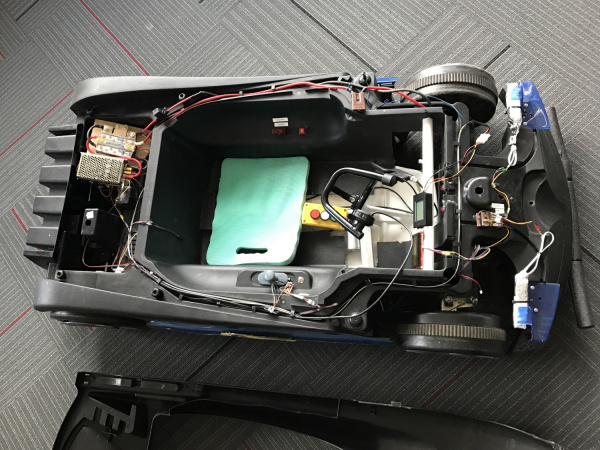 Wiring inside the Batmobile