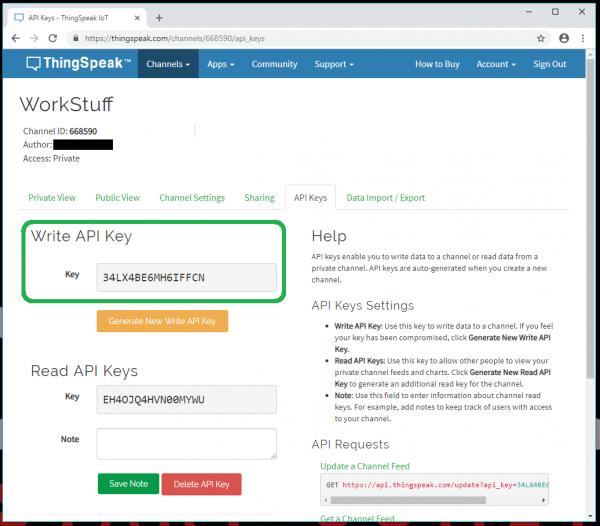 Write API Key