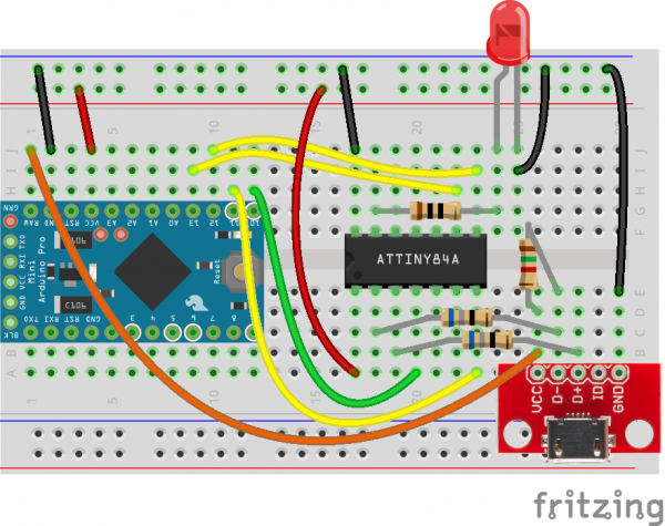Fritzing diagram to upload ArduinoISP