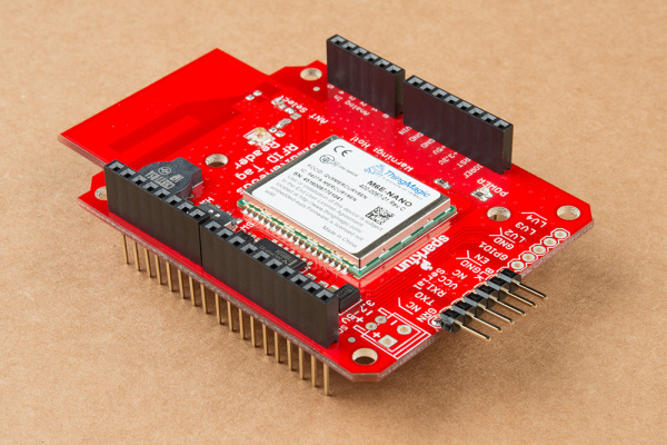 RFID Arduino Shield with stackable headers