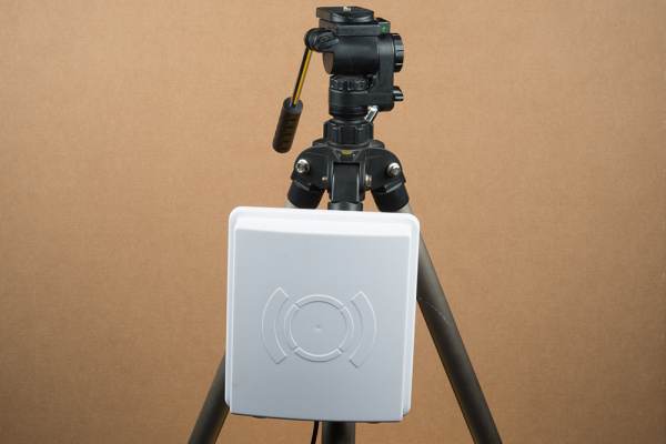 RFID Antenna attached to tripod