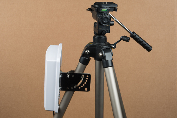 Antenna attached to tripod