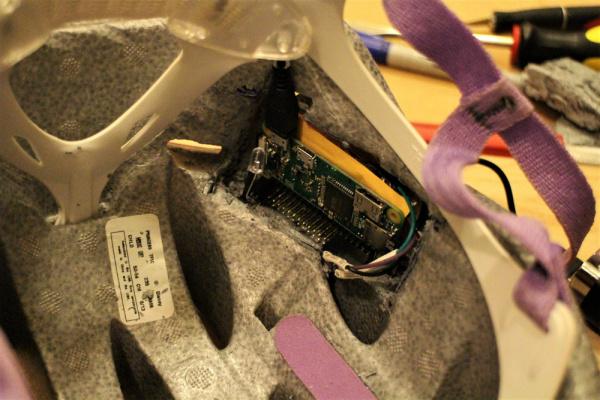 Insert Electronics into Helmet