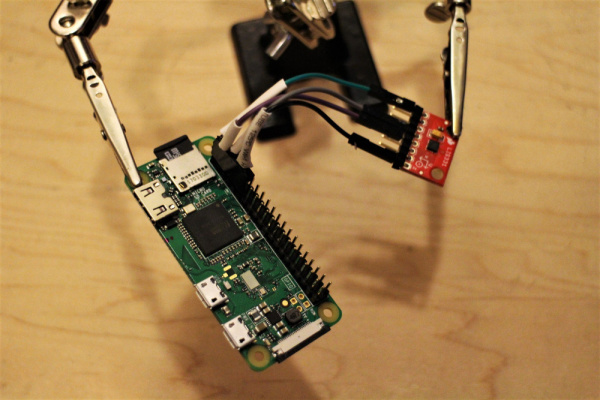 Connect the LIS3311 to a Pi GPIO Pins