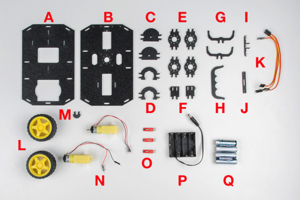 micro:bot chassis parts