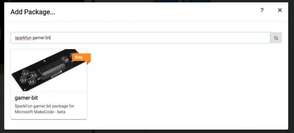 Screenshot Makecode gamer:bit