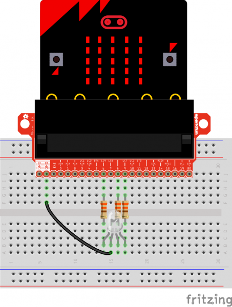 micro:bit breakout board hookup Fritzing