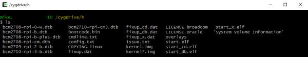 Boot directory ls