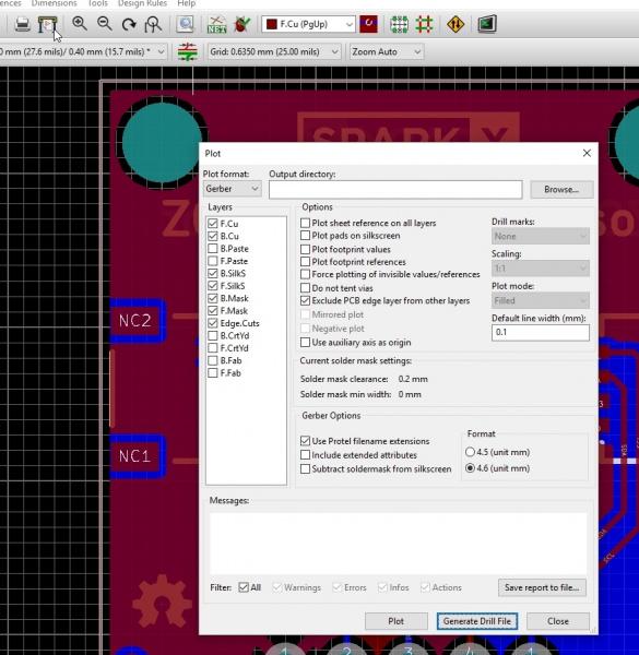 Plotter Button and Plot Window
