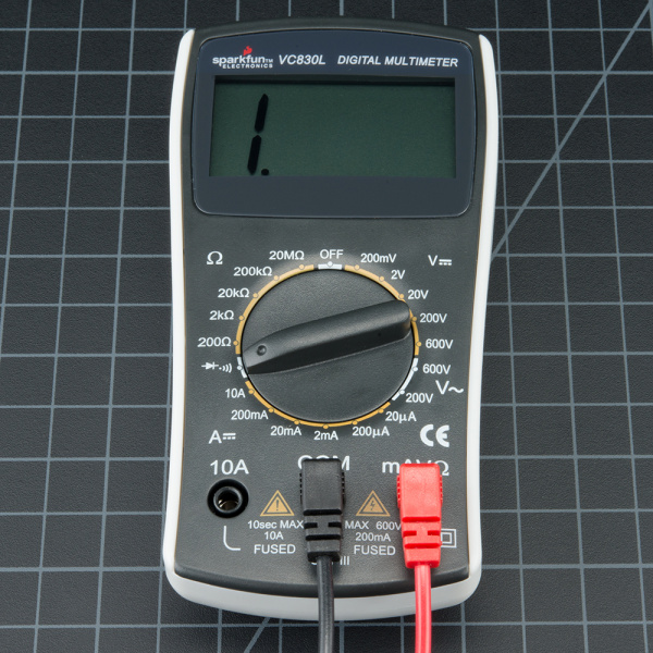 Multimeter Set to Measure Continuity