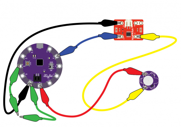 LilyPad Arduino USB with N-Channel MOSFET Power Controller and Vibe Motor