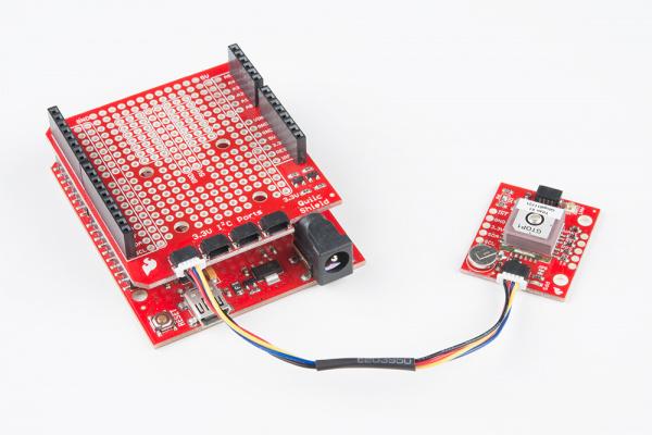 XA1110 plugged into shield