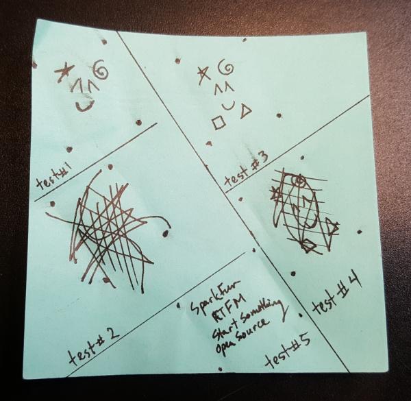Hand Drawn Fingerprint (i.e. Scribbles) w/ Fiducials