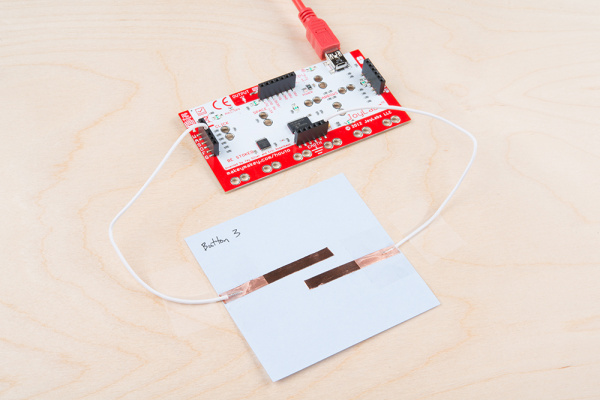 Copper Tape Button Pad with the Makey Makey
