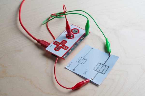hand-drawn Buttons with the Makey Makey