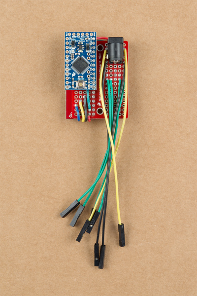 Back View Soldered Circuit