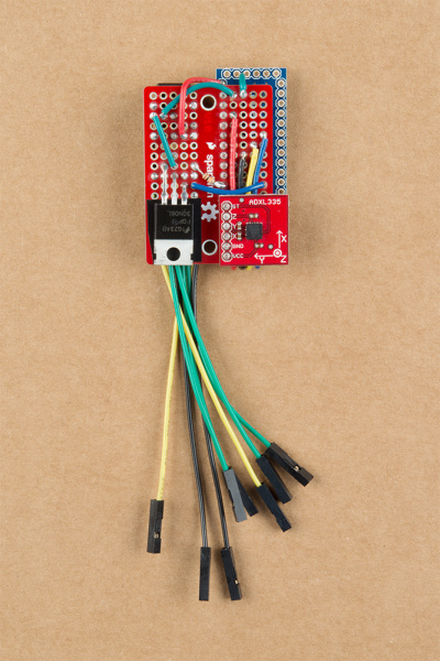 Front View Soldered Circuit