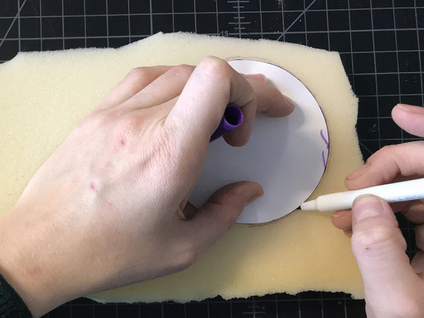 trace on foam