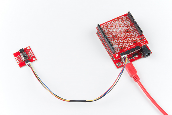 Connected GridEYE to Arduino
