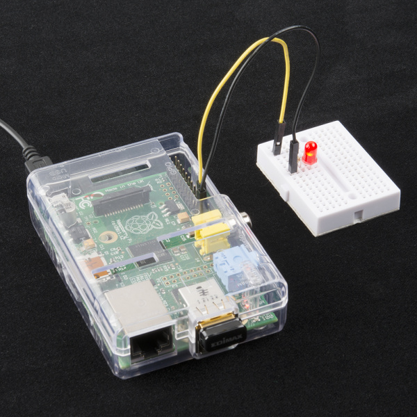 Headless Raspberry Pi project using just an LED