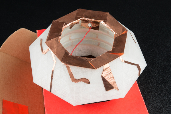 Finished Diamond Holder with Copper Tape Electrodes for Capacitive Touch Sensing