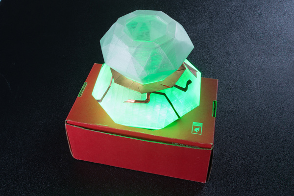 Capacitive Touch 3D Printed Lit LED Diamond Prop