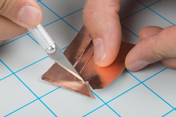 Manually Cut Copper Tape into Traces