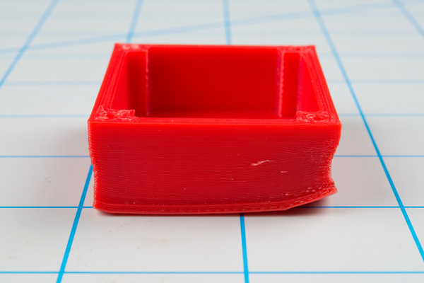 Warping on a 3D printed part