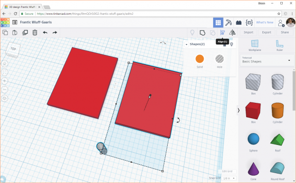 Selecting multiple objects in Tinkercad