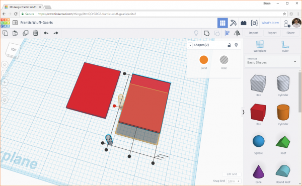 Moving objects with align in Tinkercad