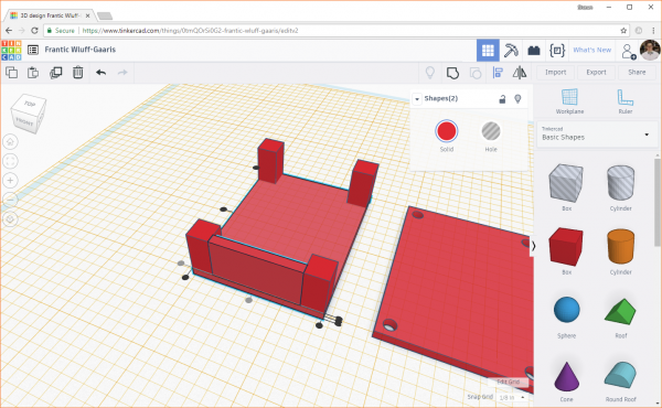 Using the Align tool in Tinkercad to line up two objects
