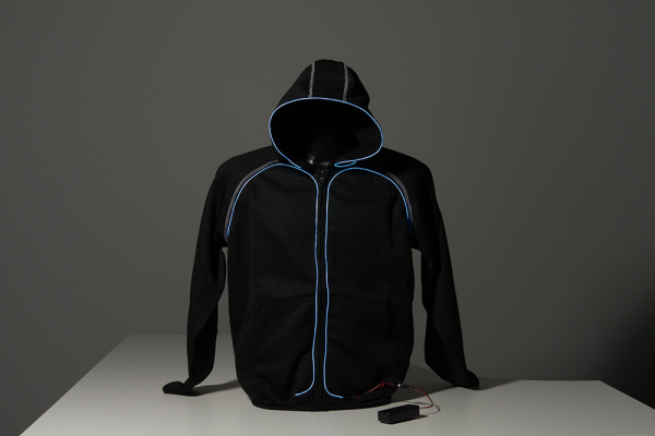 Youth Large Hoodie with EL Wire