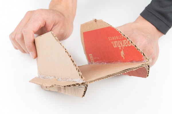 Front-Side View of Cardboard Bracket