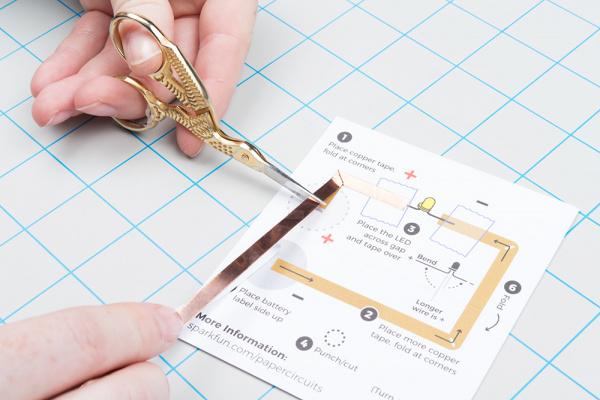 Cutting copper tape