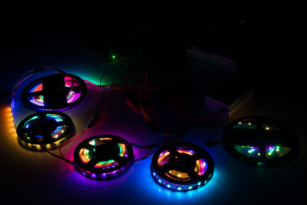 LED Strips with Lower Brightness and Animated