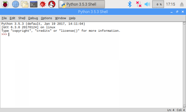 IDLE Python command prompt