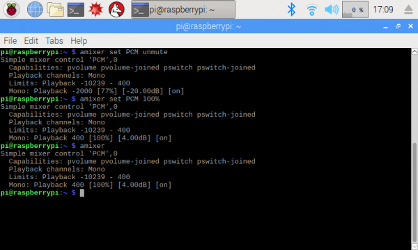 Configure audio output on Raspberry Pi