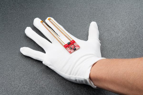 Sensor Laid on Glove